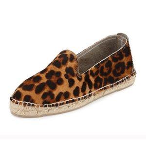 Brand New Manebi leopard espadrille shoes